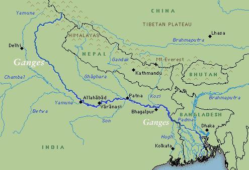 Rio Ganges Mapa Fisico.O Subcontinente Indiano Geobau